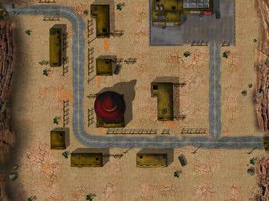 The map for tank game