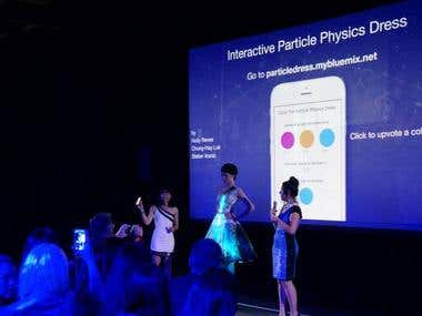Interactive Particle Physics Dress