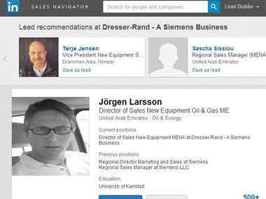 Linkedin Sales Nevigator Account