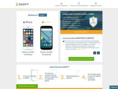 www.gadfy.mx - Mobile Buy and sale platform