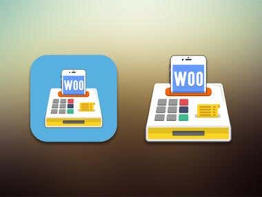 Icon concept for Woo Ecomerce App