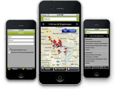 iPhone - Property listing app