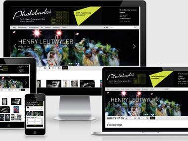 German website for event management company