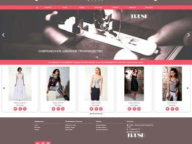 Web-site for online store of exclusive women's clothing