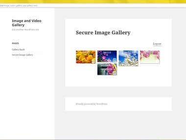 Secure Image Gallery