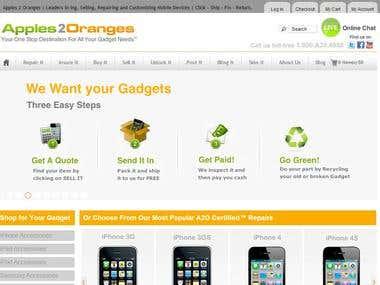 E - Commerce website - Apple2Oranges