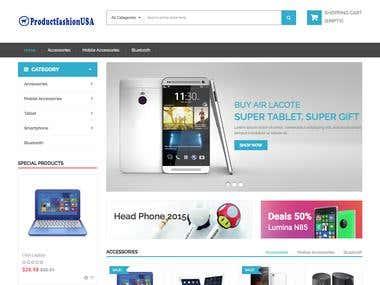 website design and develop for   productfashionusa.com