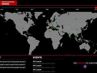 Data visualizuation on map