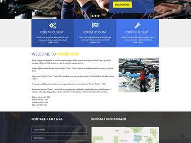 Website design for an automobiles company
