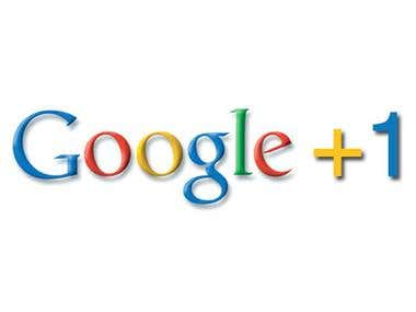 Increase Google+1 on website