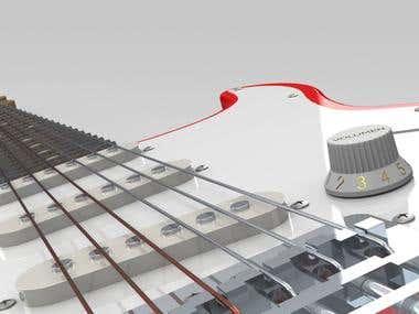 Fender Stratocaster - Solidworks