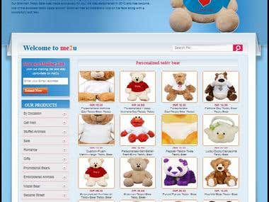 A Website build for customization of teddy bear.