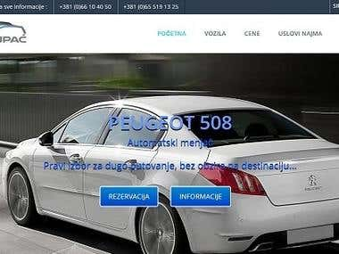 Rent A Car Cupac Website