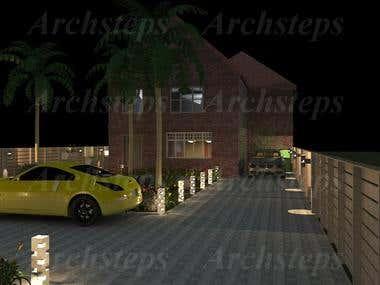 landscape design for a European house