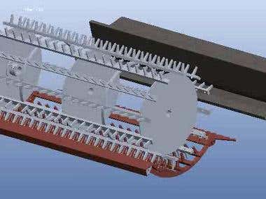 Modelling, Assembly and Motion Analysis of Harvesting Machin