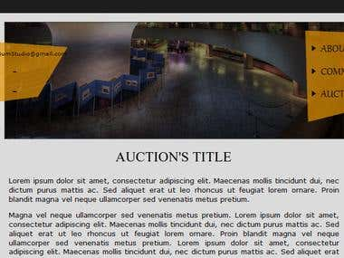 Auction's template 3