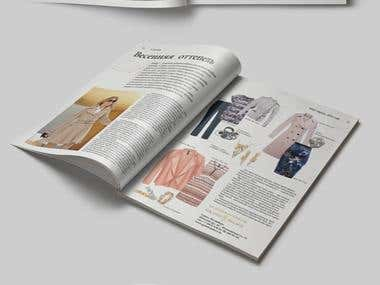 Design and layout of a glossy magazine
