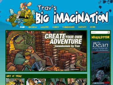 Comic & Art Book Website