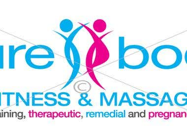 Pure Body Fitness & Massage Logo Design