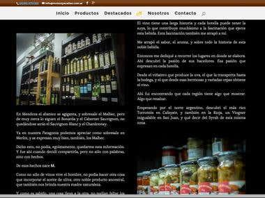 Winery and delicatessen website