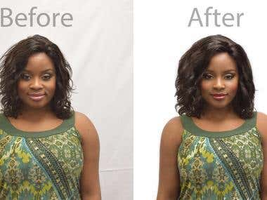 Retouching and airbrushing