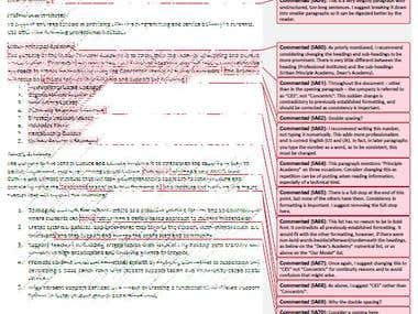 Editing Example: Business Proposal