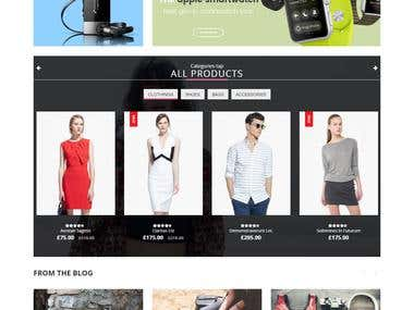 Responsive E-Commerce Website Design
