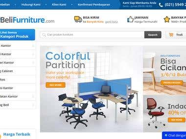 Screenshot of Belifurniture.com