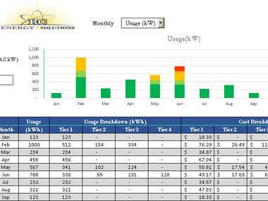 Electric Rate Analyzer - Excel/VBA & Web