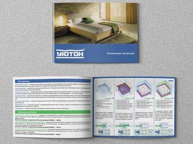 Booklet for the company, which sells mattresses