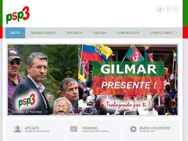 Partido Sociedad Patriotica Web Page
