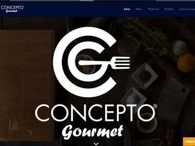 Concepto Gourmet Webpage