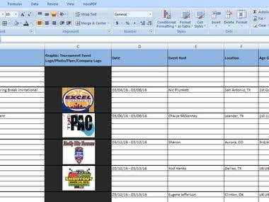 EVENT LIST OF BASKETBALL TOURNAMENTS