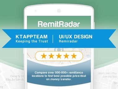 Winning contest Design RemitRadar App Mockup!
