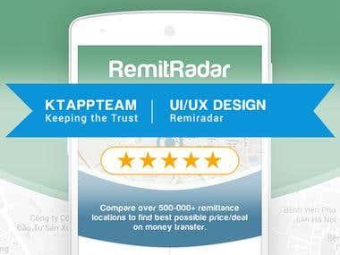 Winning contest Design RemitRadar App Mockup!