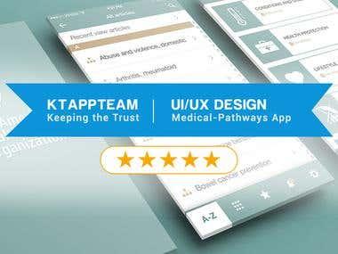 Ui/Ux Design for Medical-Pathways documents