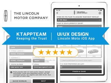 Winning the contest: UI/UX Design for Lincoln Moto iOS App