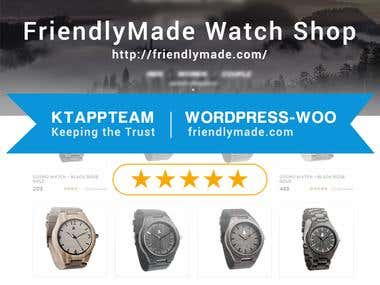 Creating  Wordpress Shop for Friendlymade.com
