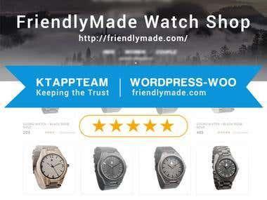 Creating  Wordpress Shop for Friendlymade.com