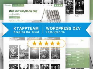 Online book reading community - Wordpress System