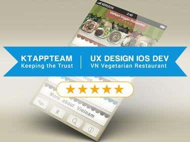 Design and Develop Vietnam Vegetarian Restaurant App