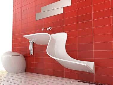 Bathroom Designs and Renderings