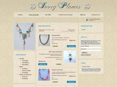 Ivory Plumes website