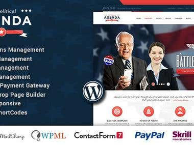 Agenda | Political Responsive WordPress theme