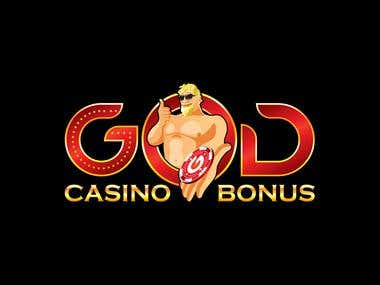 Logo Design for God Casino Bonus