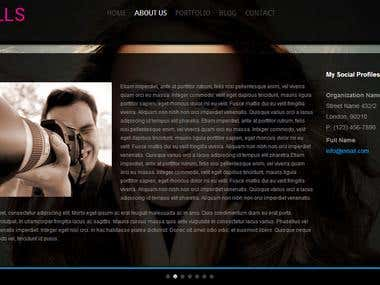 Responsive HTML/CSS3 Web Template