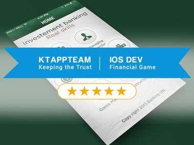 iOS development, UI/UX design for Financial Services Games