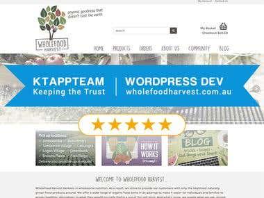 Creating Wordpress store for Vegetable Farm