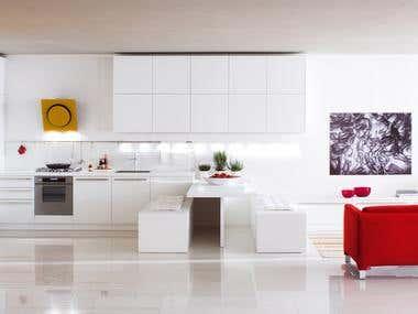 Kitchen Design and Rendering
