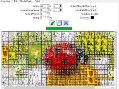 Image Mosaic Maker in C++/OpenCV/Qt